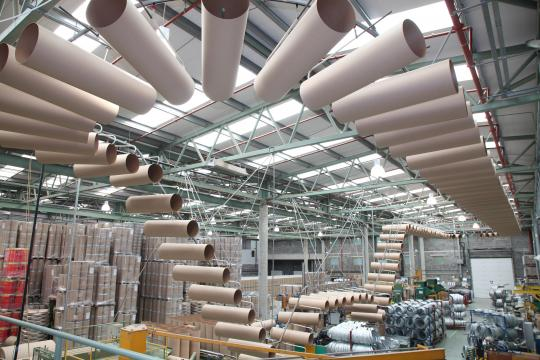 Birdseye view of Industrial Packaging production plant