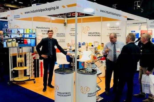 Rob Lee Marketing Director on the Industrial Packaging stand at a conference