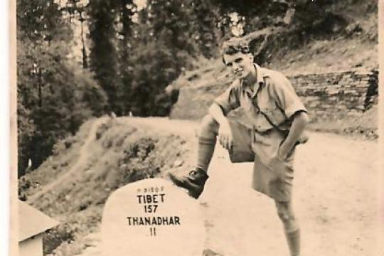 BW photo of Fred Lee at Mt Everest