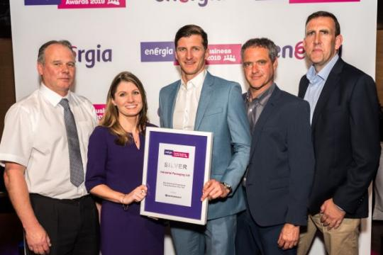 5 members of Industrial Packaging team with silver award at Energia Family Business Awards 2019