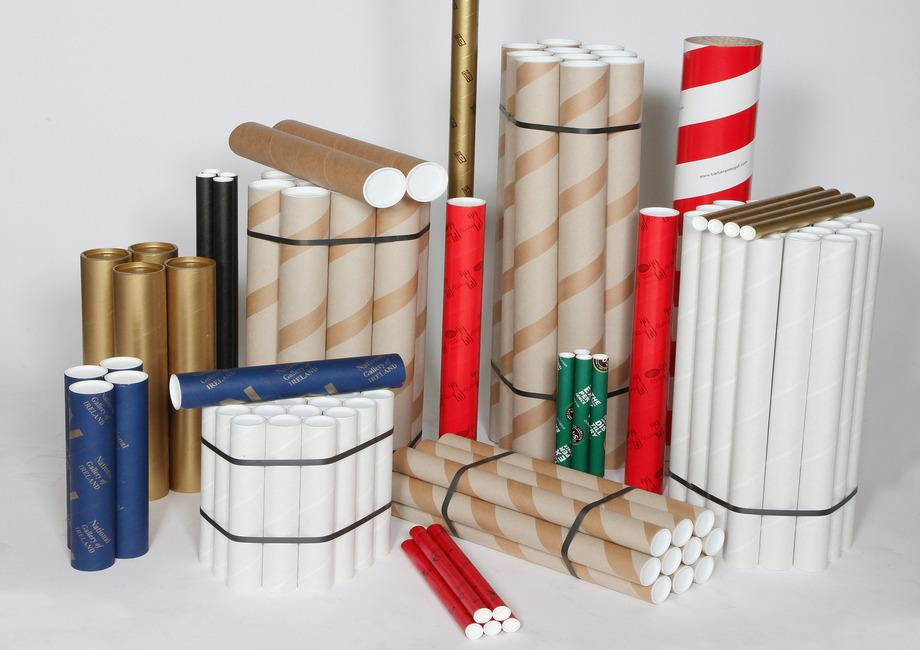 Cardboard postal tubes in over ten different designs and dimensions.
