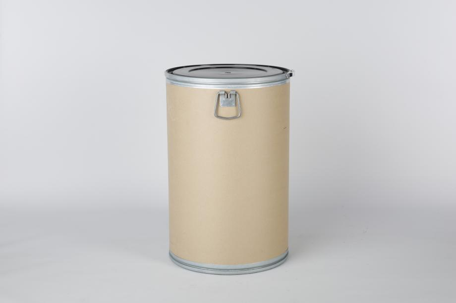 Fibre drum with cardboard core inside for packing wire or cable into