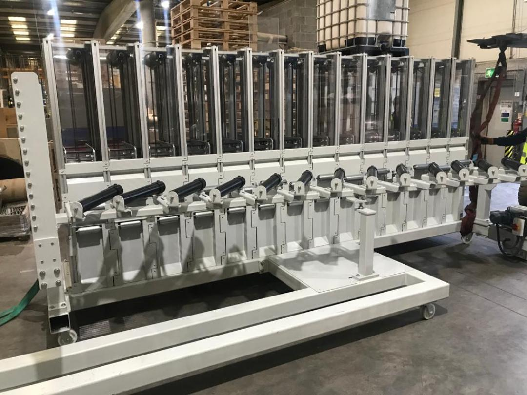 New core winding machine in the Industrial Packaging Ltd factory