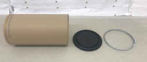 Enviroloc drum separated into its components