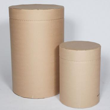 A small and a large fully fibre drum