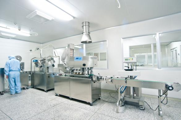 A lab in a pharmaceutical manufacturer